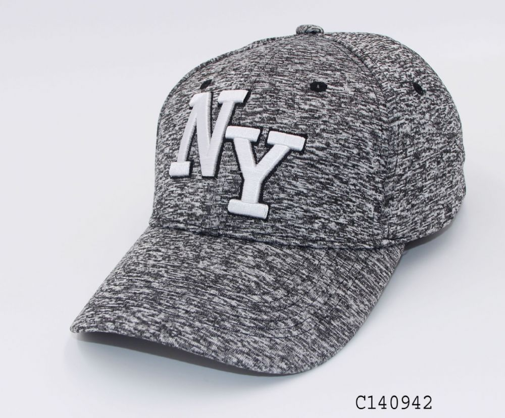 C140942 NY baseball adjustable polyester made cap summer hat